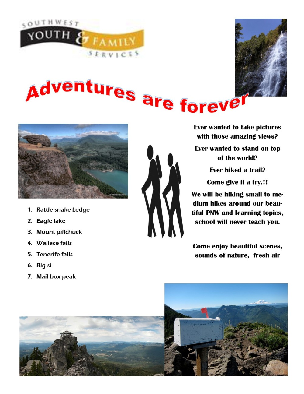 hiking flier